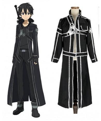 Sword Art Online Kirigaya Kazuto Leather Cosplay Costume