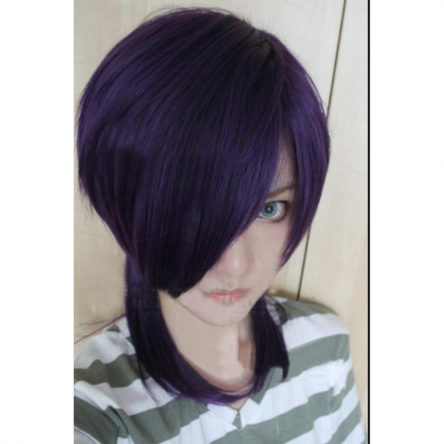 The Devil Is A Part Timer Lucifer Purple Style Cosplay Wig