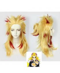 Demon Slayer Kimetsu no Yaiba Kyojuro Rengoku Cosplay Wig