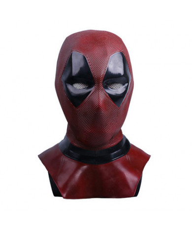 Deadpool 2 Wade Wilson Dark Red Latex Mask