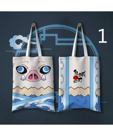 Toilet Bound Hanako Kun Demon Slayer Kimetsu no Yaiba Cartoon Canvas Bag Shoulder Bag