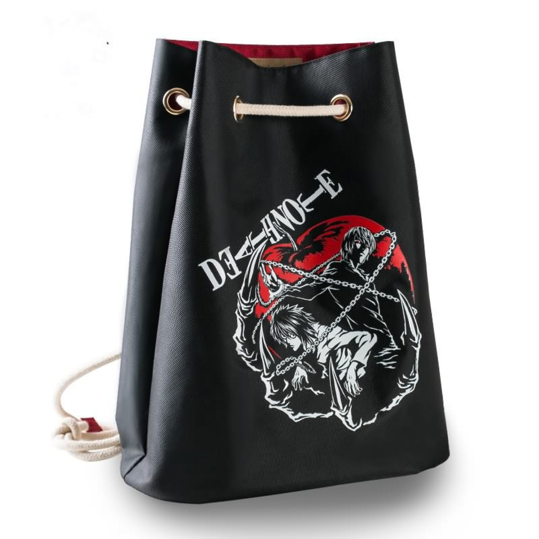 Death Note Series Anime Schoolbag Backpack L Night God Moon Shoulder Drawstring Drawstring Backpack