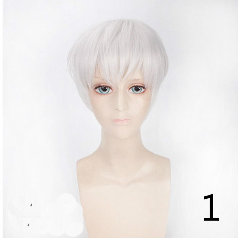 Tokyo Ghoul Kaneki Ken Short Black White Cosplay Wig