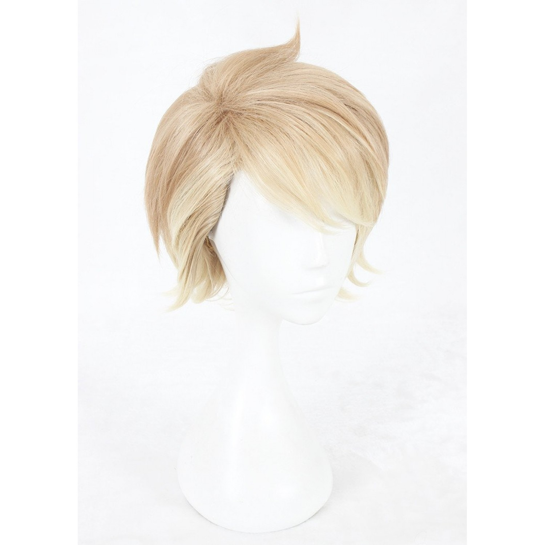 A3 Chigasaki Itaru Brown Gradient Short Anime Styled Cosplay Hair Wig