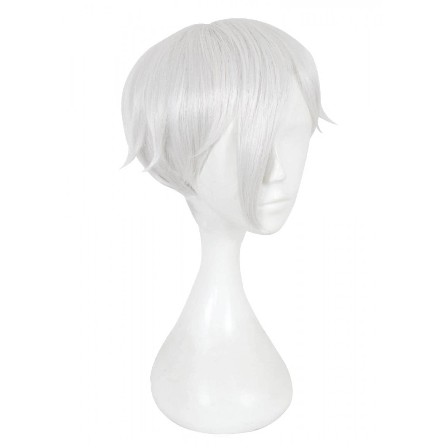Land of the Lustrous Antarcticite Silver White Short Cosplay Hair Wig