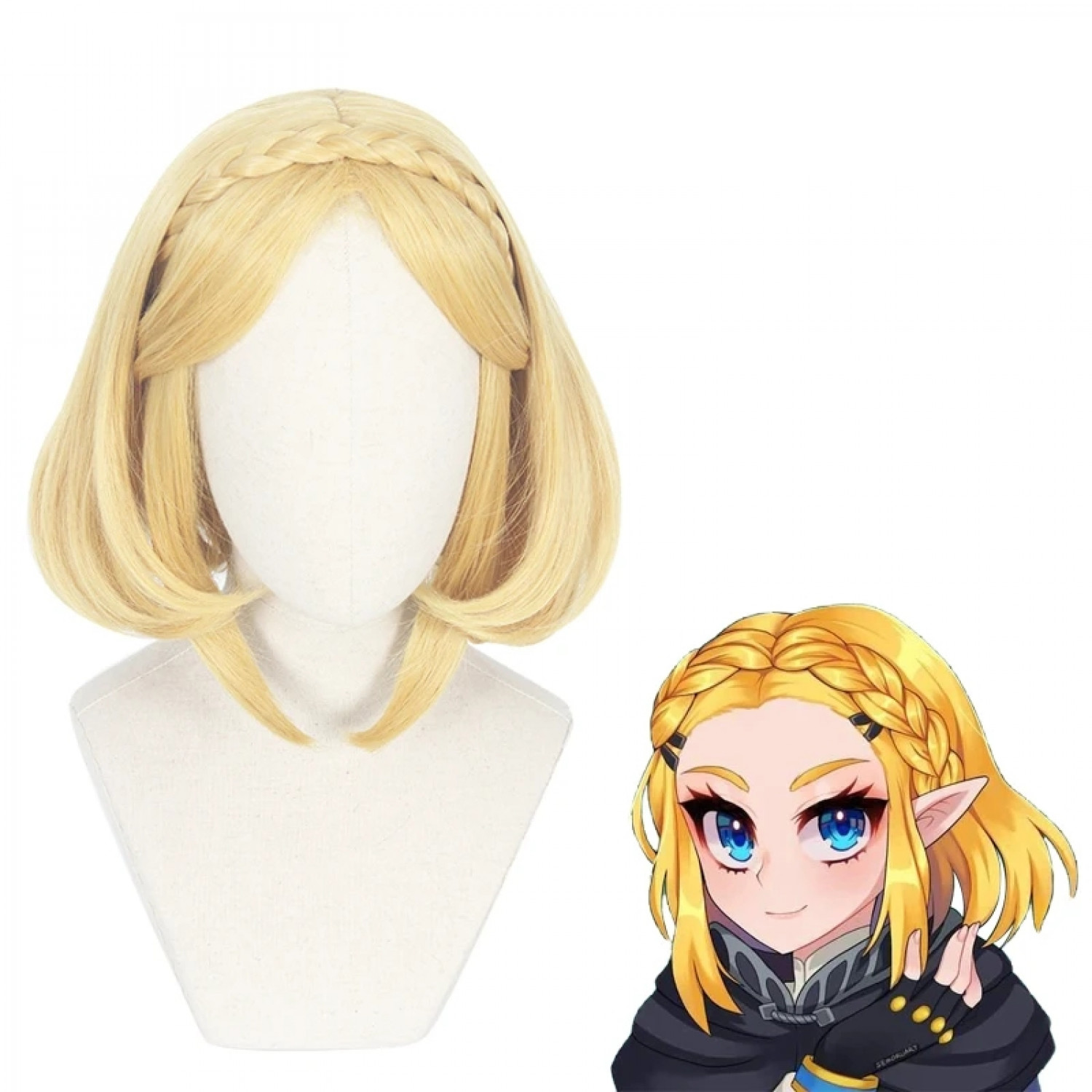 The Legend of Zelda Princess Zelda Golden Short Cosplay Wig