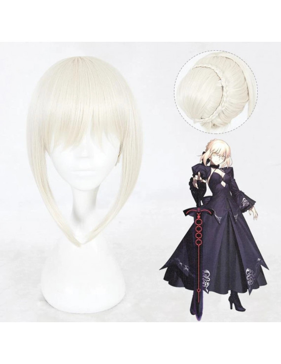 Fate Stay Night Saber Alter Light Beige Cosplay Wig