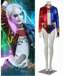 Suicide Squad Harley Quinn Sexy Halloween Cosplay Costume