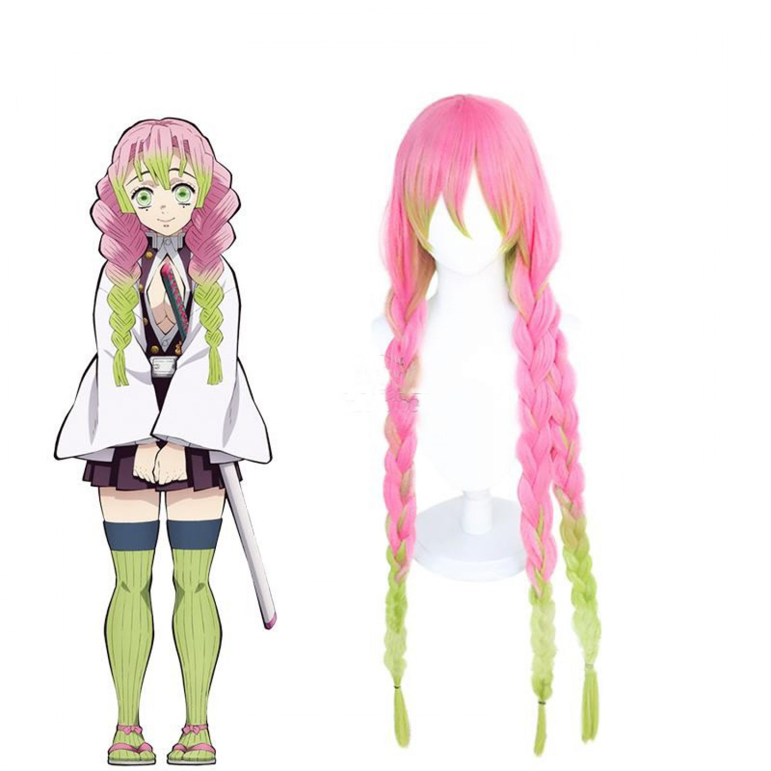 Demon Slayer Kanroji Mitsuri Cosplay Hair Wig Free Shipping 29 99 Mitsuri is a very emotional and passionate person, who is constantly complimenting people in her head, which likely relates to why she is called the 'the pillar of love.'. demon slayer kanroji mitsuri cosplay