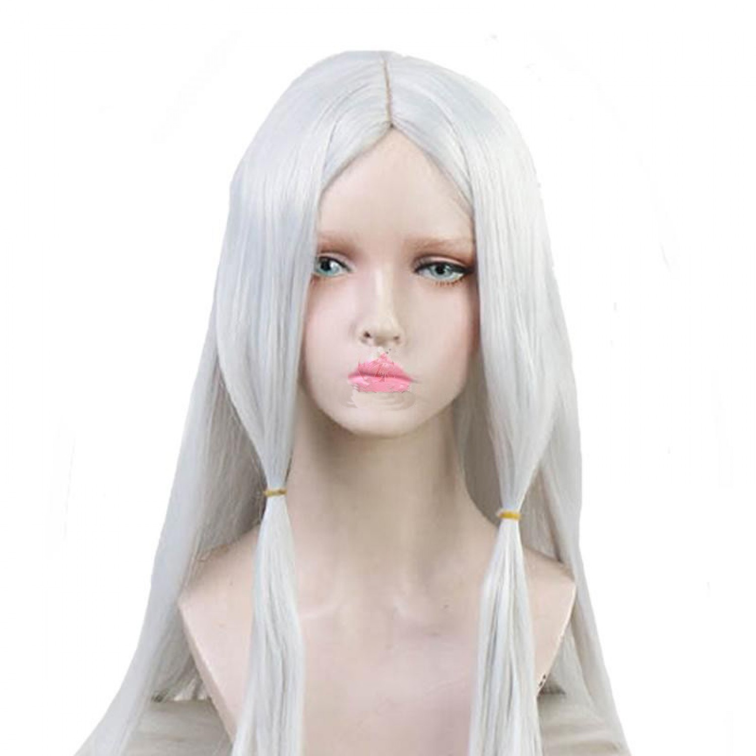 Demon Slayer Spider Mother Silver Cosplay Hair Wig