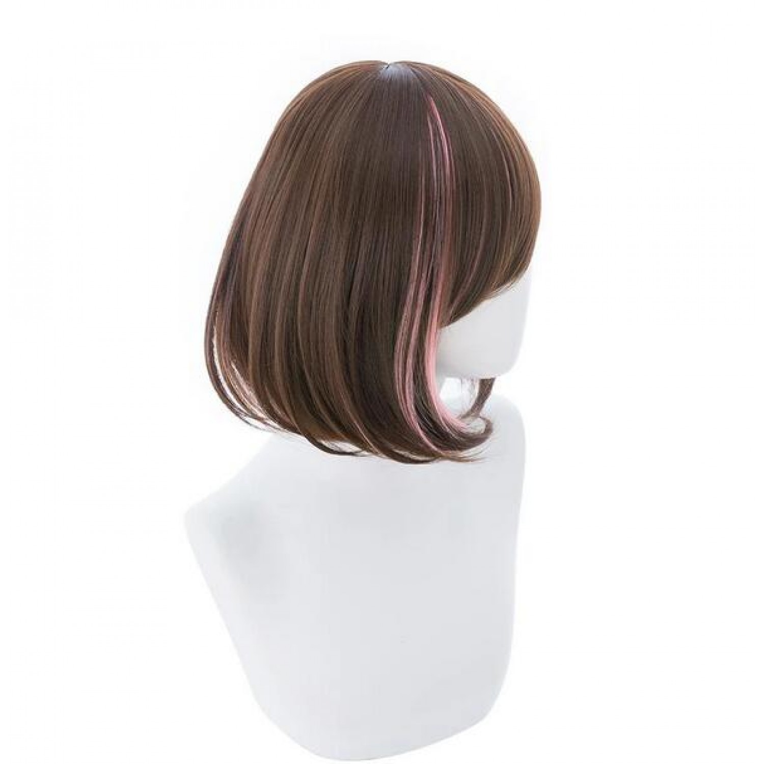 A I Channel Kizuna AI Short Brown Mixed Color Cosplay Wig