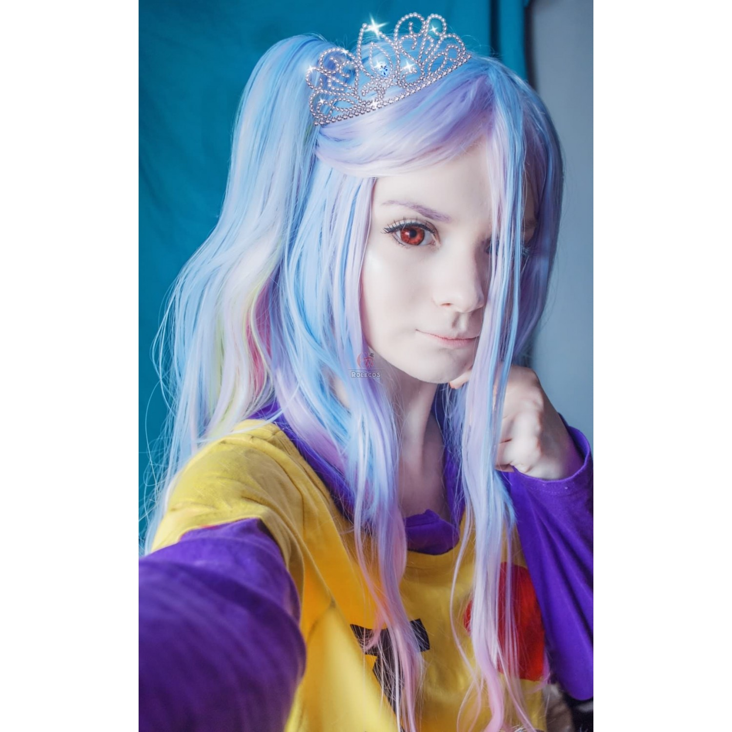 No Game No Life Shiro Synthetic Hair Cosplay Wig