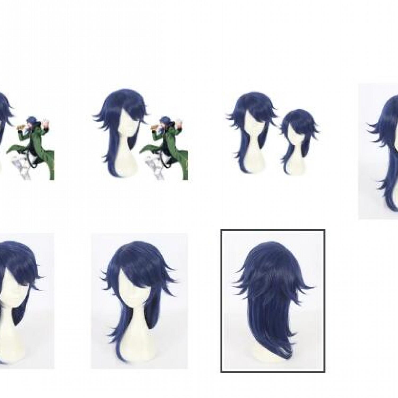 Hypnosis Mic Dice Arisugawa Blue Long Cosplay Wig