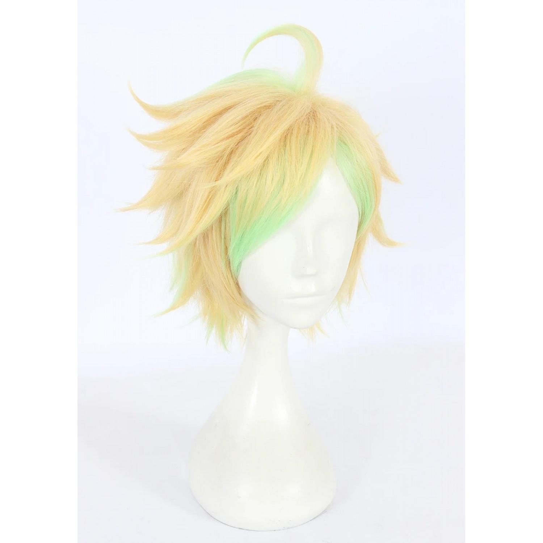 Hypnosis Mic Hifumi Izanami Blonde & green Cosplay Wig