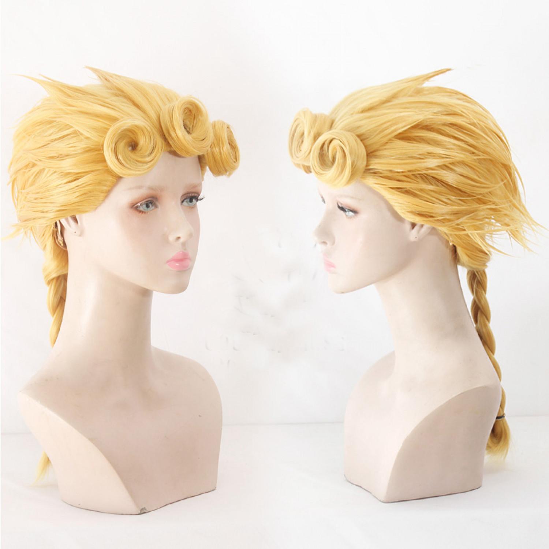 JoJos Bizarre Adventure Giorno Giovanna Cosplay Wig