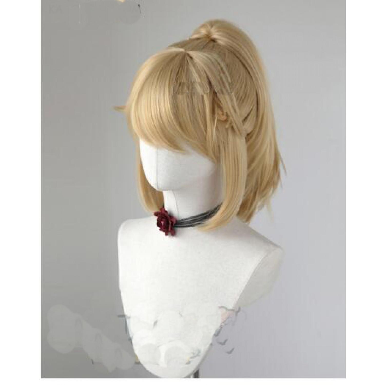 Super Mario Bowsette Kasou blonde cosplay wig