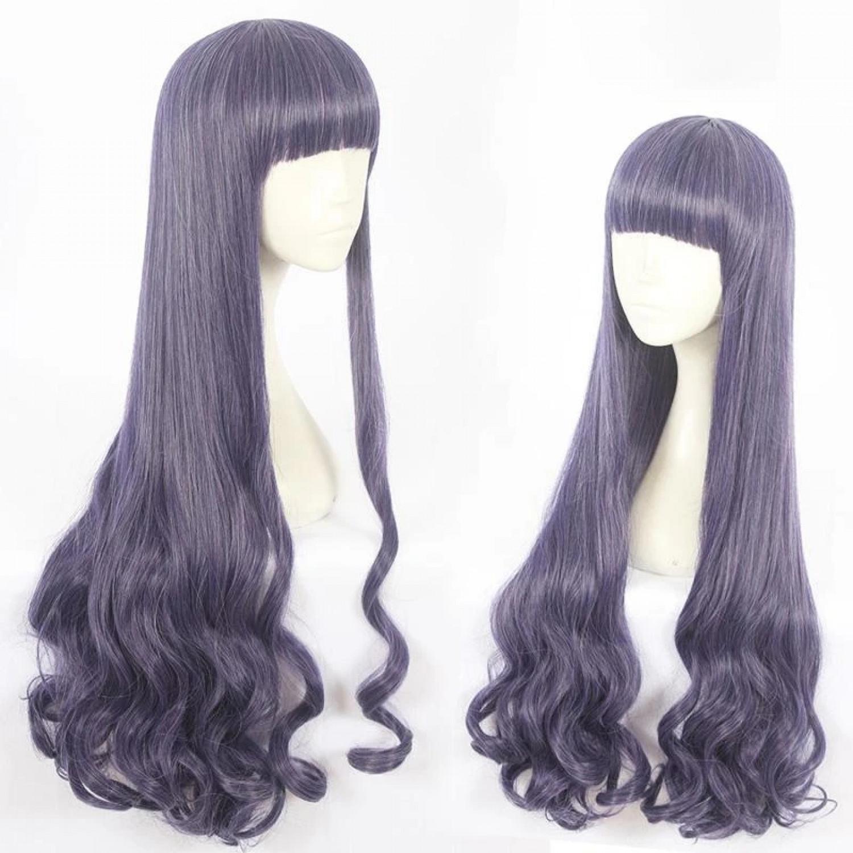 Card Captor Sakura Tomoyo Purple Mixed Cosplay Wig