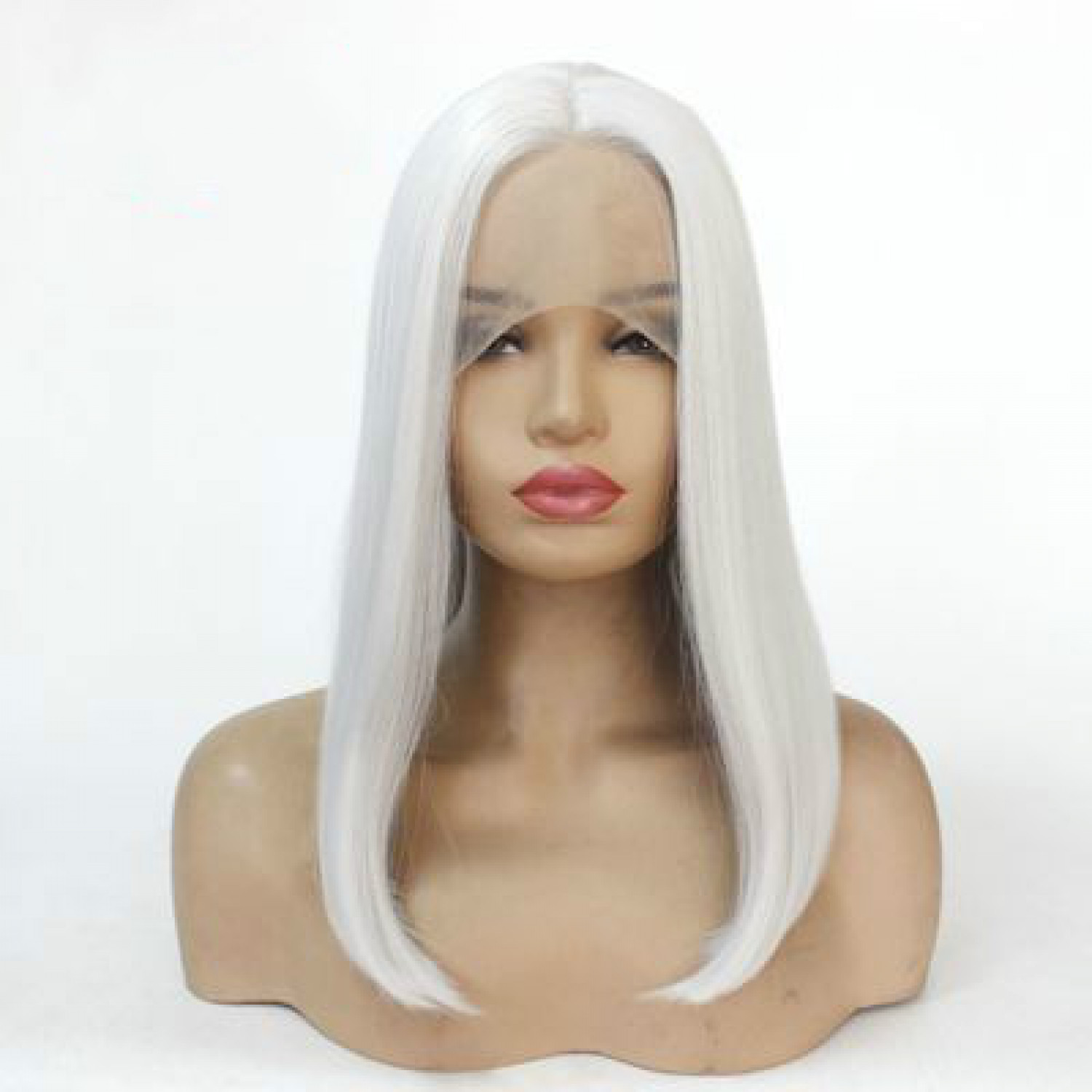 Grey Short Bob Synthetic Hair Lace Front Wig