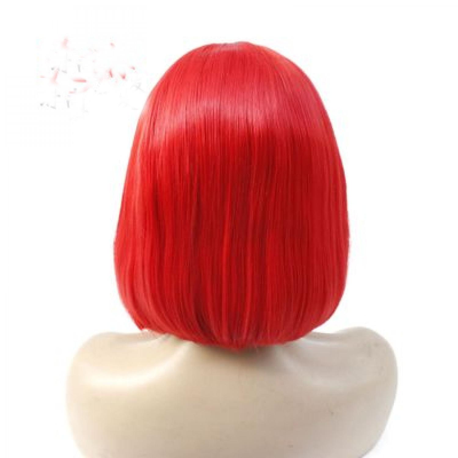 Dark Red Short Straight Bob Synthetic Hair Lace Front Wig