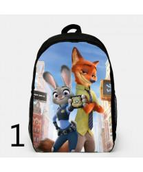 Zootopia Backpacks Canvas School Student Bag