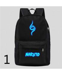 Naruto night light backpack Naruto Sasuke cartoon couple schoolbag