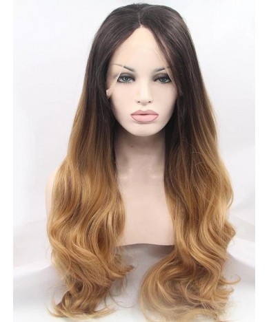Good Quality Long Ombre Brown Lace Front Wigs with Baby Hair 24 inch