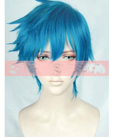 ACCA 13 Territory Inspection Dept Nino Blue Short Cosplay Wig 30 cm