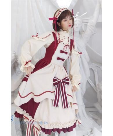 Pretty Cure Snow White Red JSK Daily Sweet Lolita Dress