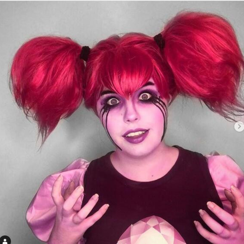 Steven Universe Spinel Gem Red Cosplay Wig