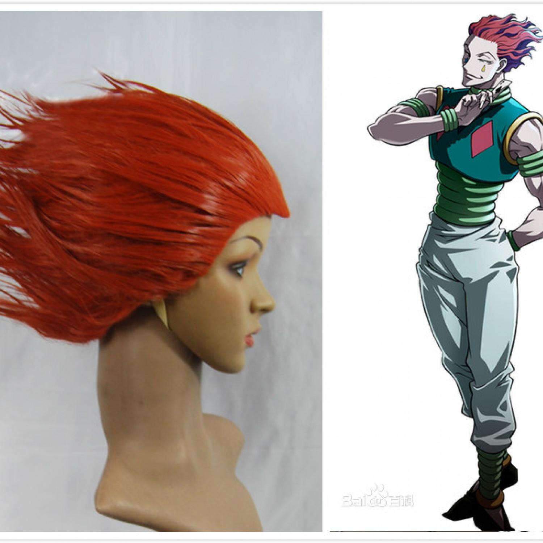 Hunter x Hunter Hisoka Red Cosplay Wig