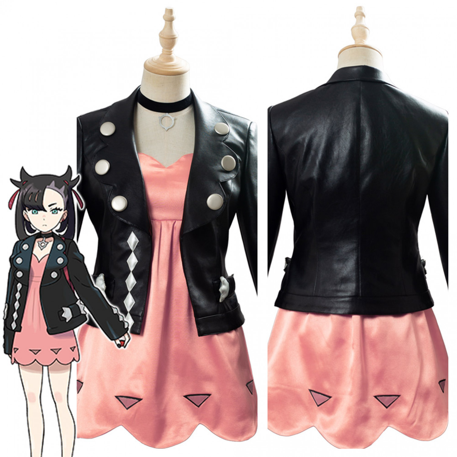 2020 Pokemon Sword Shield Marnie Cosplay Costume Dress