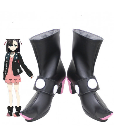 2020 Pokemon Sword Shield Marnie Cosplay Shoes