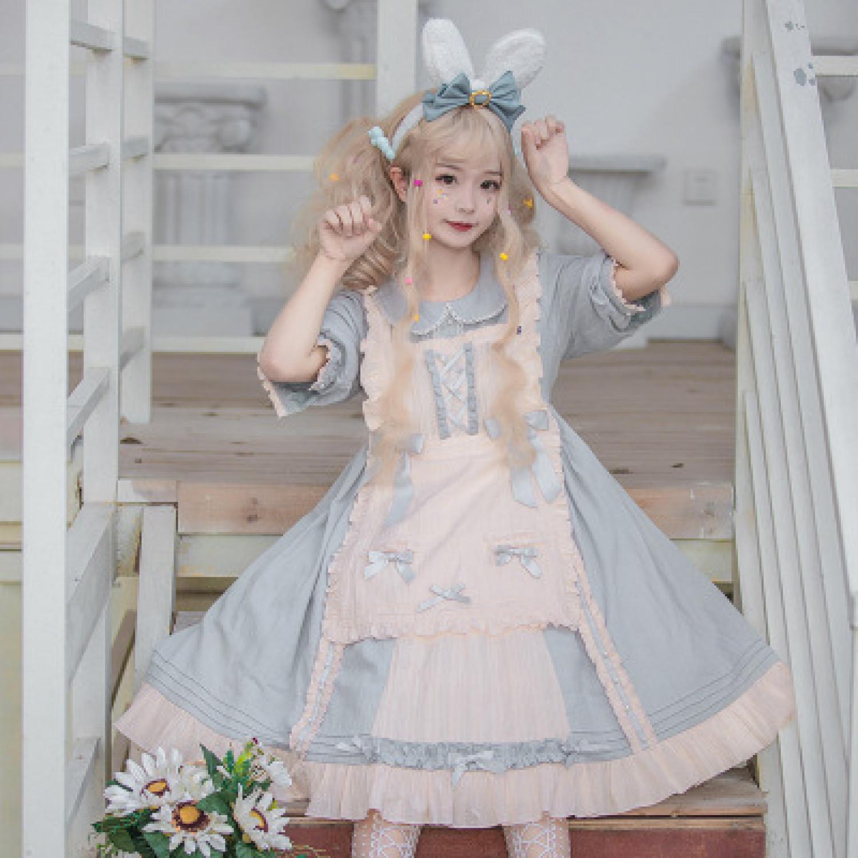 op sweet cream dress cute bow Lolita Dress