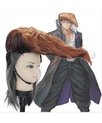 Danganronpa v3 Mondo Owada Cosplay hairwear short Dark Brown Wig