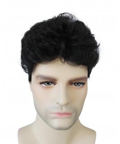 Coserworld Black Short Wavy Synthetic Hair Wig for Men