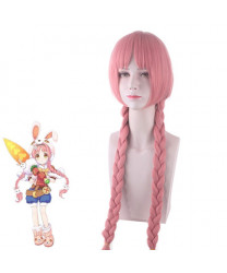 Re Dive Chika Misumi Pink Long Styled Cosplay Wig with Ponytail