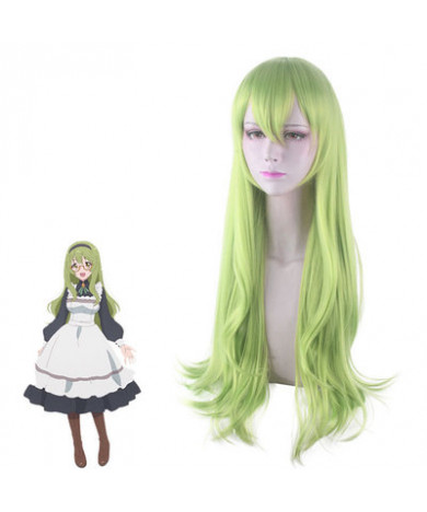 Re Dive Nozomi Sakurai Green Long Styled Cosplay Wig
