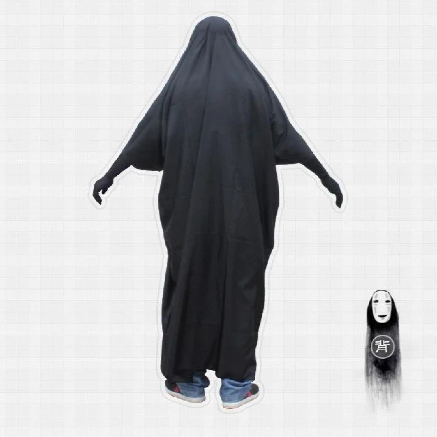 Spirited Away No Face man Cosplay Cloak Gloves Mask