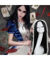 Alice Madness Returns Alice Black Game Cosplay Wig