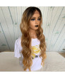 30 inch long curly hair piano color pick color synthetic front lace wig