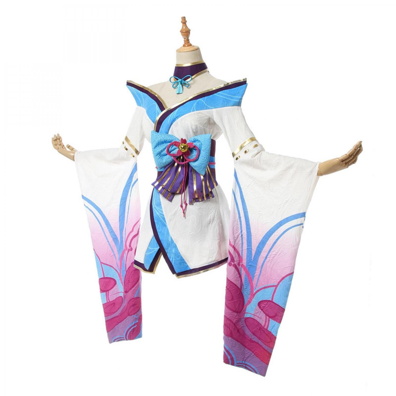 LOL League of Legends Spirit Blossom Ahri Lolita Dress Cosplay Costume