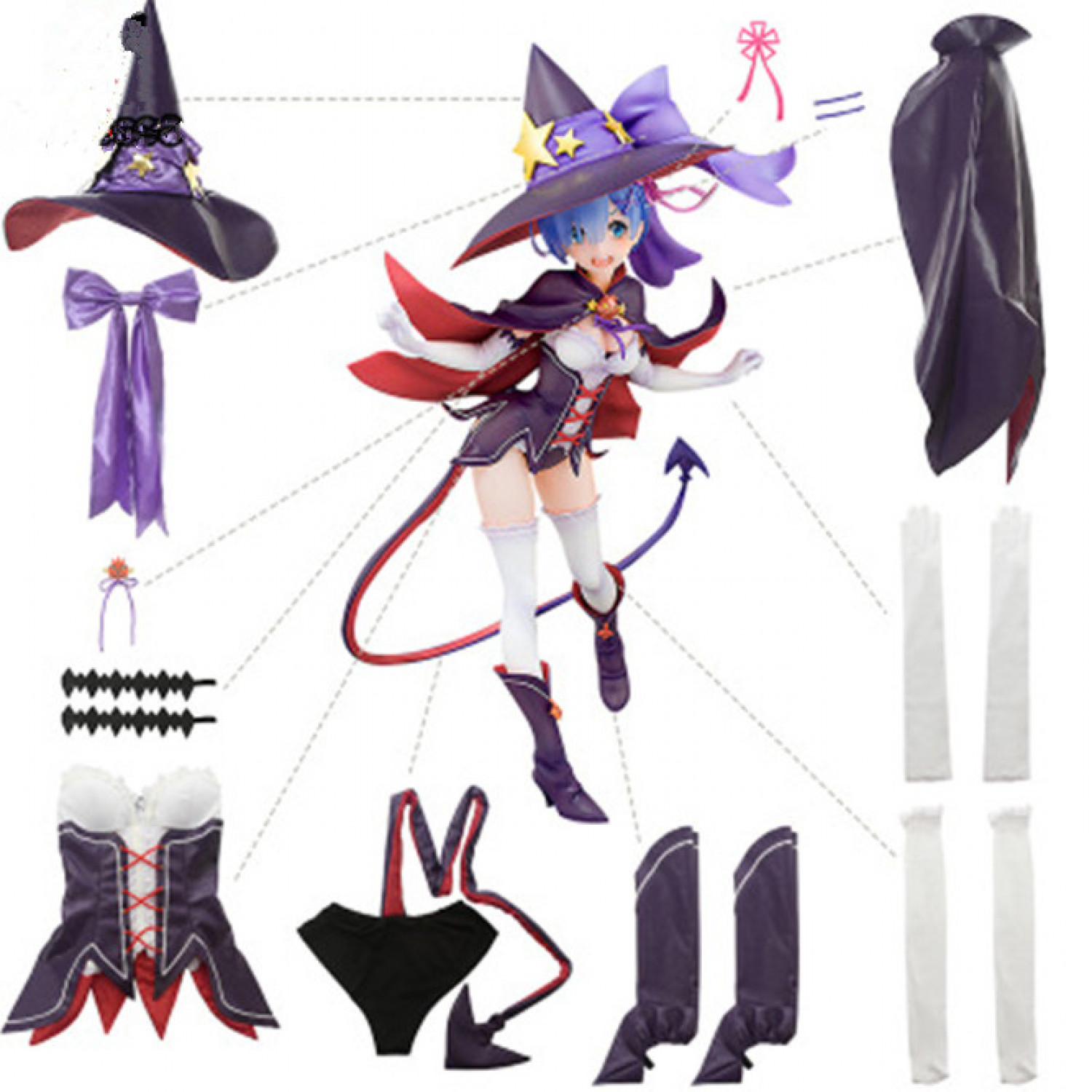 Re Life In A Aifferent World From Zero Rem Cosplay Costume