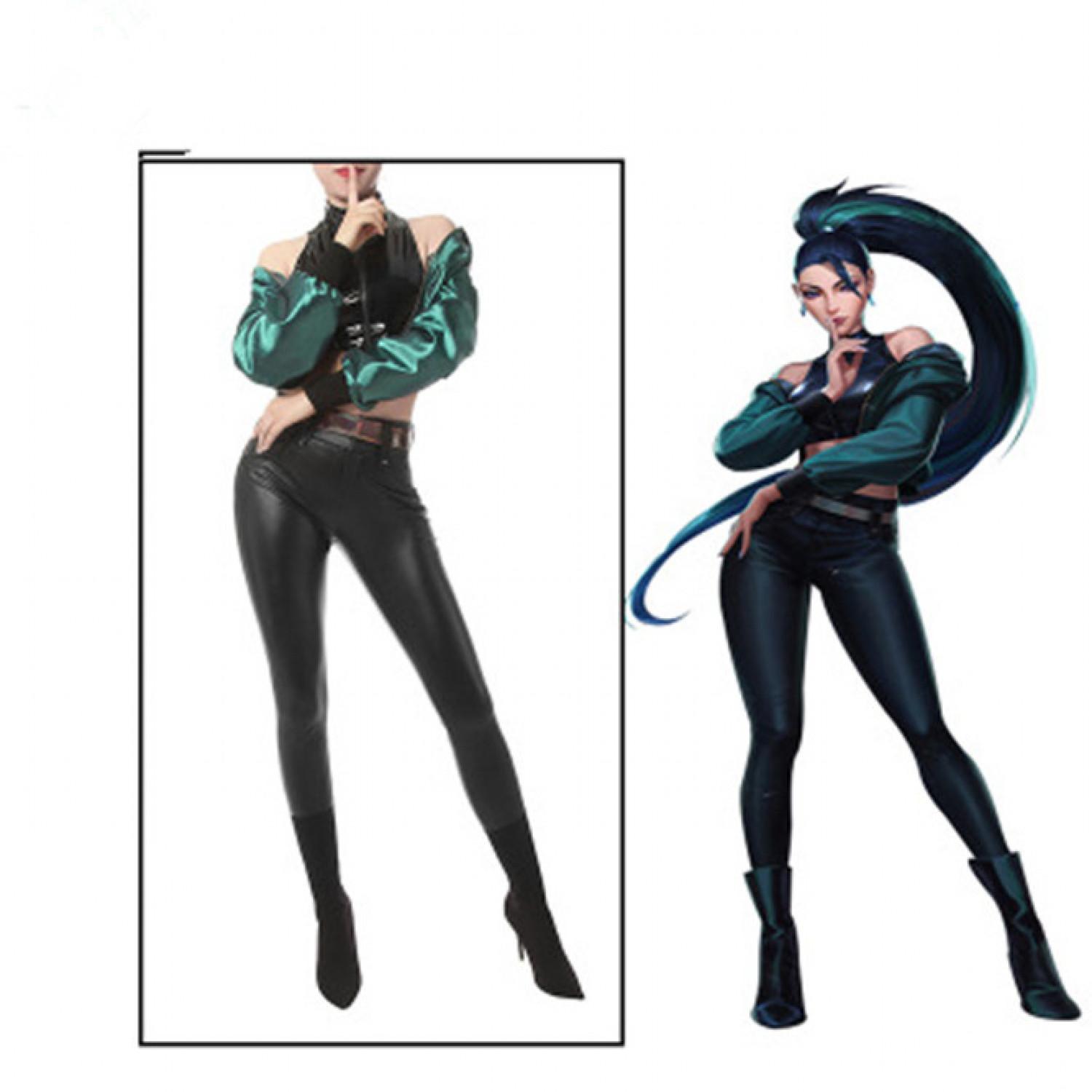 LOL League of Legends KDA BADDEST Kaisa Cosplay Costume