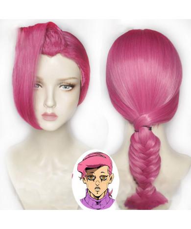 JoJo bizarre adventure Golden Wind Vinegar Doppio Diavolo Cosplay hairwear Wig+Wig Cap