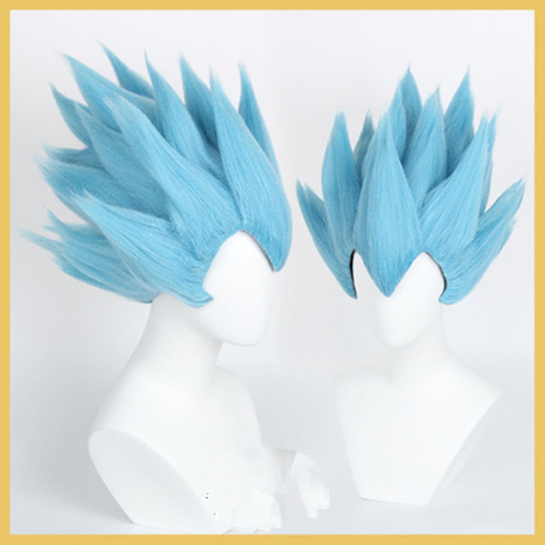 Dragon Ball Vegeta Blue Cosplay Wig