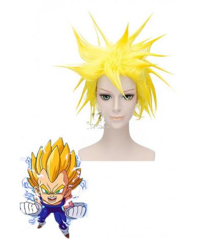 Dragon Ball Vegeta Yellow Short Cosplay Wig 30 cm