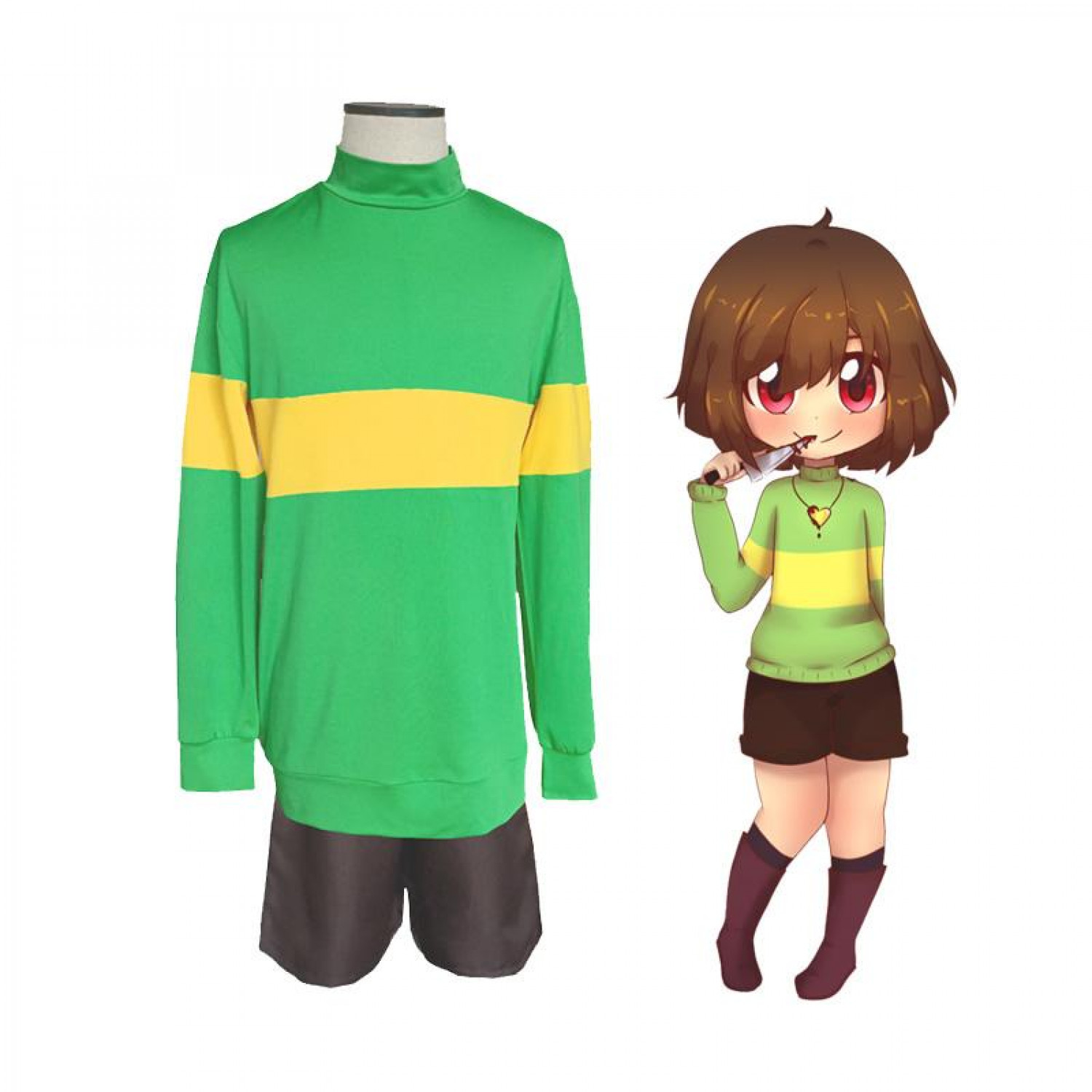 Undertale Chara Anime Cosplay Costume