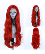 24 inch long curly hair Red color Synthetic Lace Wig