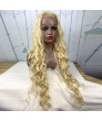 30 inch long curly Blonde Synthetic Lace Wig Costume wigs