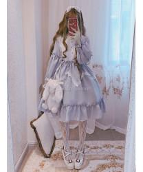 Sweet Lolita OP Dress Alice In Wonderland Ruffle Lace Lolita One Piece Dress